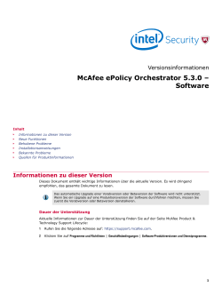 McAfee ePolicy Orchestrator 5.3.0 – Software Versionsinformationen
