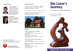 Lover`s Journey 14.-19. April 2015