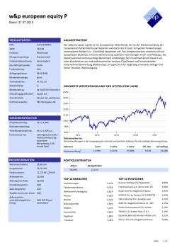 w&p european equity P