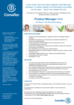 Product Manager (m/w) Schweiz