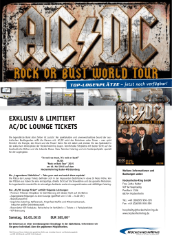 VIP-Flyer AC/DC - Rock or Bust Tour 2015