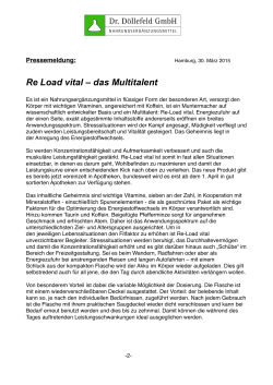 Re Load vital – das Multitalent