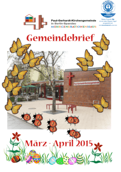 Gemeindebrief-März-April 2015 - Paul-Gerhardt