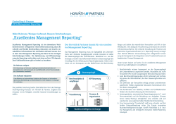 """Exzellentes Management Reporting"""