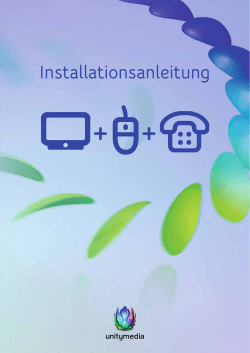 Installationsanleitung 3play bei 4er Multimediadosen