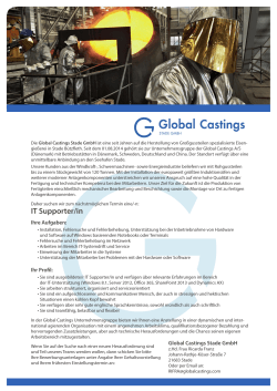 IT Supporter/in - Global Castings