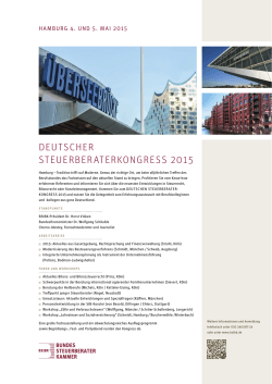 DEUTSCHER STEUERBERATERKONGRESS 2015