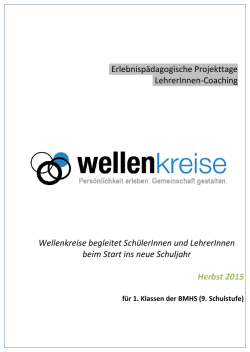 Flyer BHS - wellenkreise