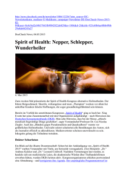 Spirit of Health: Nepper, Schlepper, Wunderheiler