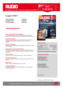 AUDIO Themenvorschau - WEKA MEDIA PUBLISHING GmbH