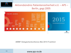 Aktionsbündnis Patientensicherheit e.V. – APS – Berlin