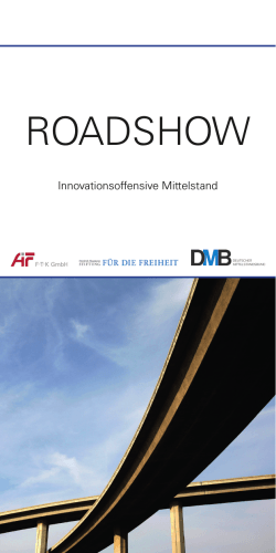 Flyer Roadshow - AiF Forschung · Technik · Kommunikation GmbH