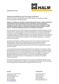 Optimale Handhabung und neuartige Funktionen (03/2015)