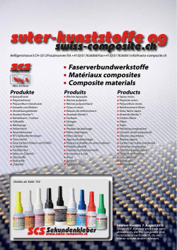 Produkte Produits Products - Suter Swiss