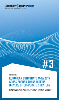 european corporate m&a 2015 cross border transactions: drivers of