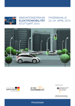 24. april 2015 - Innovations(t)raum Elektromobilität 2015