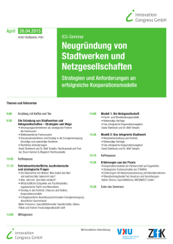 Programm - Innovation Congress GmbH