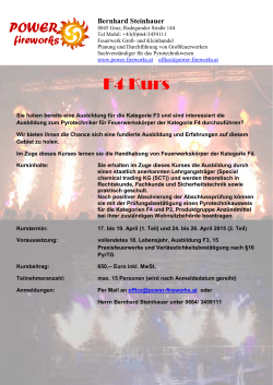 F4 Kurs - Power Fireworks