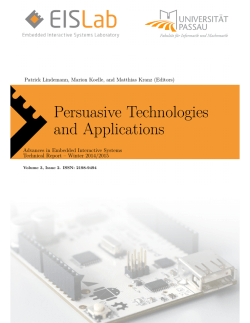 Persuasive Technologies and Applications