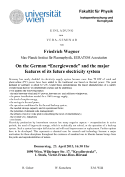 "Friedrich Wagner On the German ""Energiewende"" and the major"