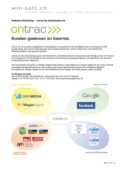Website Marketing - ontrac by Omnimedia AG - Win-Soft