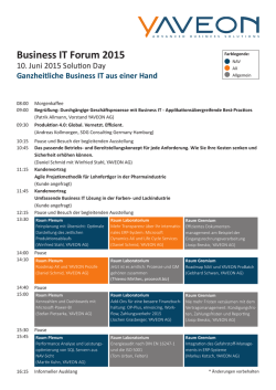 Business IT Forum 2015