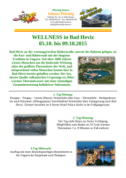 Wellness in BAD HEVIZ & Budapest