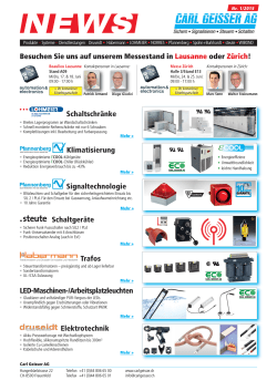 Geisser NEWS 1/2015: Automation & Electronics