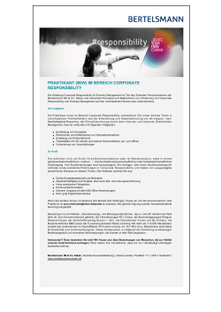 Jobs & Karriere PRAKTIKANT (M/W) IM BEREICH CORPORATE
