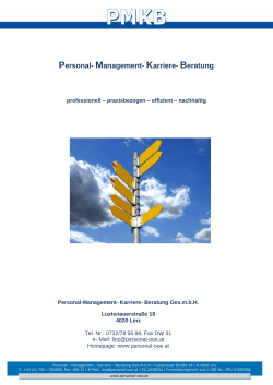 PMKB Personal Management Karriere Beratung