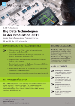 Big Data Technologien in der Produktion 2015