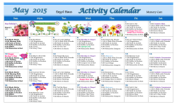 May 2015 Activity Calendar Memory Care