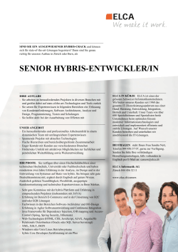 SENIOR HYBRIS-ENTWICKLER/IN