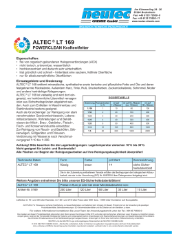 ALTEC ® LT 169 - Neutec Chemie