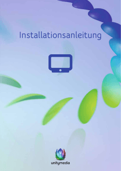 Installationsanleitung HD Recorder