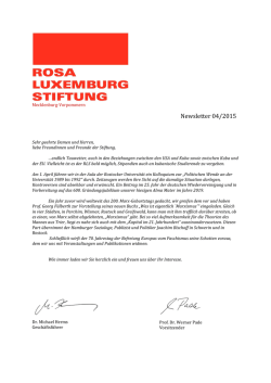 Newsletter 04/2015 - Rosa-Luxemburg