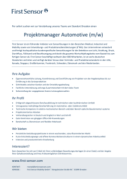 Projektmanager Automotive (w/m)