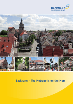 Backnang – The Metropolis on the Murr