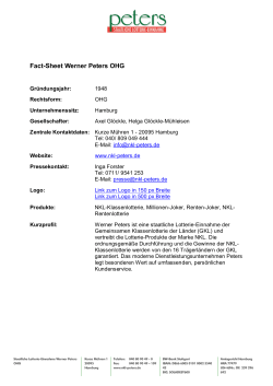 Fact-Sheet Werner Peters OHG