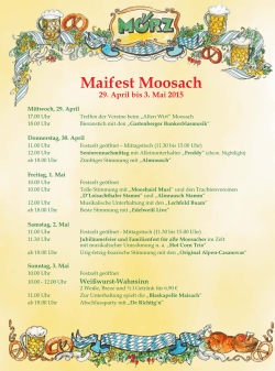 Maifest Moosach 29. April bis 3. Mai 2015