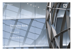 Presentation - Deutsche Bank
