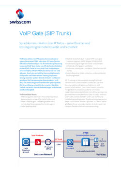 VoIP Gate (SIP Trunk)