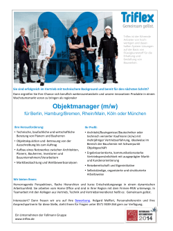 Sales Manager SGF Funktionsbeschichtungen