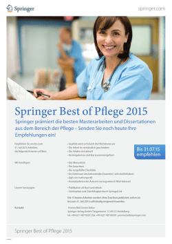 Springer Best of Pflege 2015