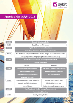 Agenda Sybit Insight 2015