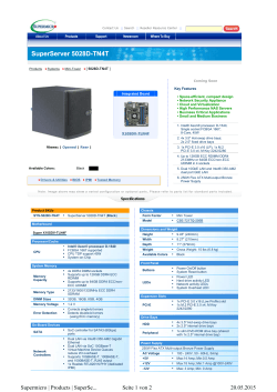 SuperServer 5028D-TN4T