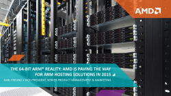 amd is paving the way for arm hosting solutions in 2015