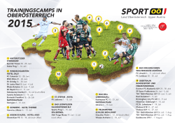 TRAININGSCAMPS IN OBERÖSTERREICH