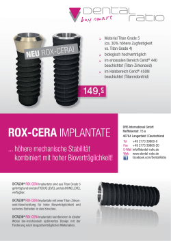 OKTAGON ® ROX-CERA Implantate - DENTAL