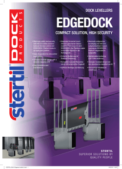 dock levellers compact solution, high security